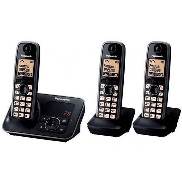 טלפון אלחוטי+משיבון +2 שלוחות panasonic kxtg6623