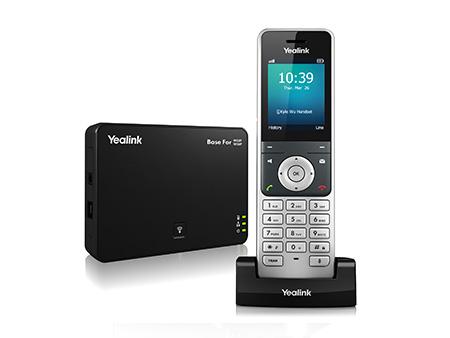 טלפון אלחוטי yealink w60p חדיש