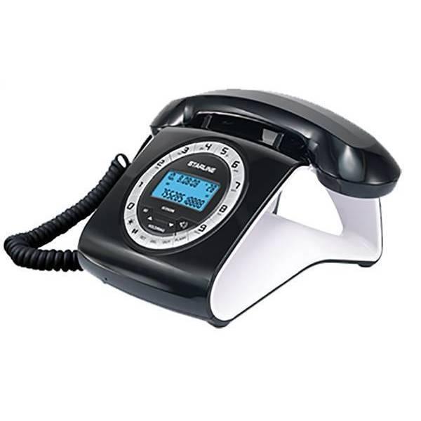 טלפון שולחני סטארליין בעיצוב רטרו GCE6206 לבן